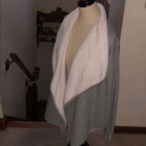 Sonoma Grey & Off White Open Flap Fall Jacket 🍁